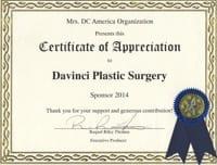 Mrs. DC Certificate of Appreciation